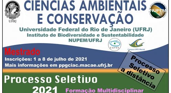 PROCESSO SELETIVO MESTRADO 2021/2